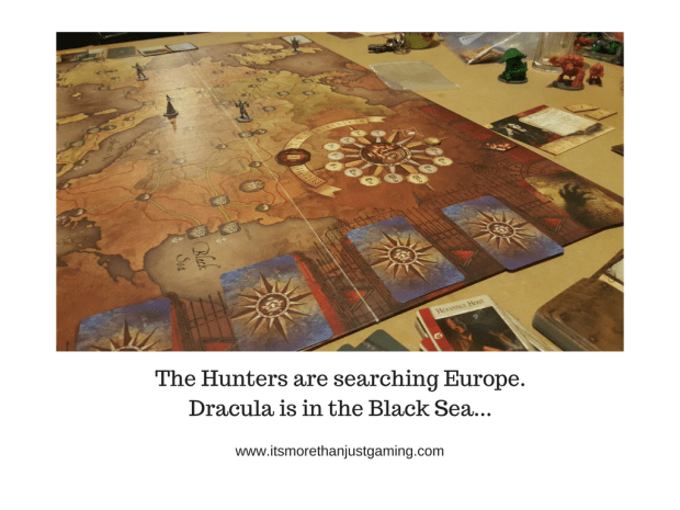 The Hunters are searching Europe. Dracula is in the Black Sea...Fooling hunters in Fury of Dracula is amazing fun!