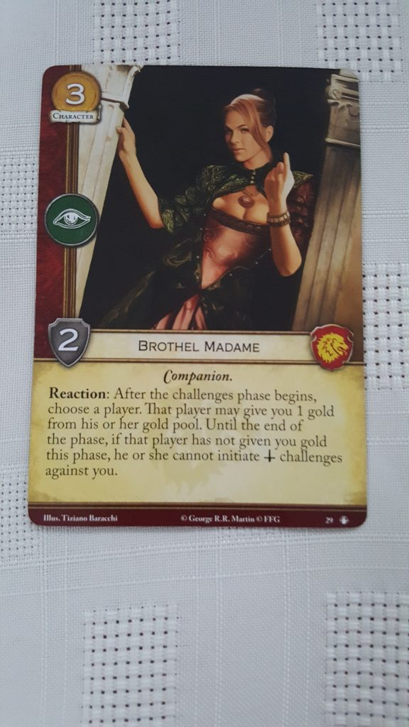 Brothel Madame card for Game of thrones card game