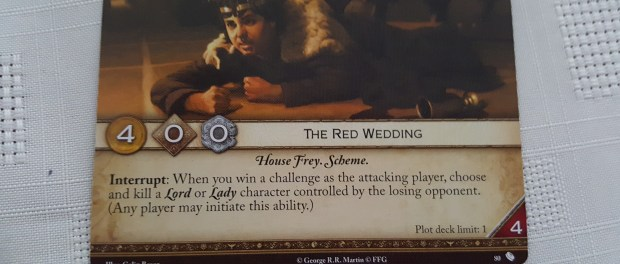 The Red Wedding Plot Card