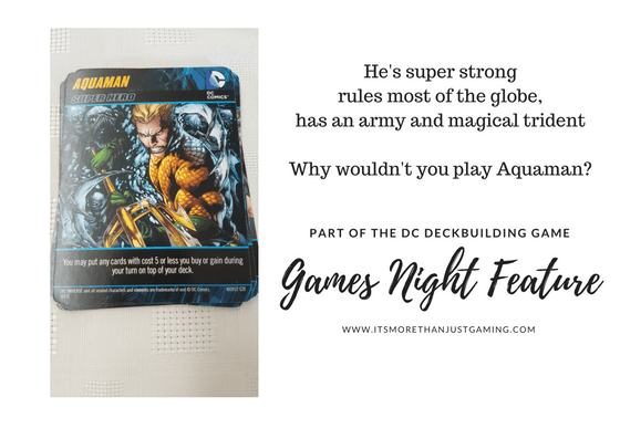 Aquaman card from the DC Deckbuilding game