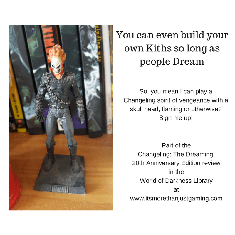 It is possible for players to invent Kiths in Changeling: The Dreaming 20th Anniversary Edition. Including Ghost Riders...