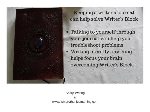 Keeping a writer's journalcan help solve Writer's Block