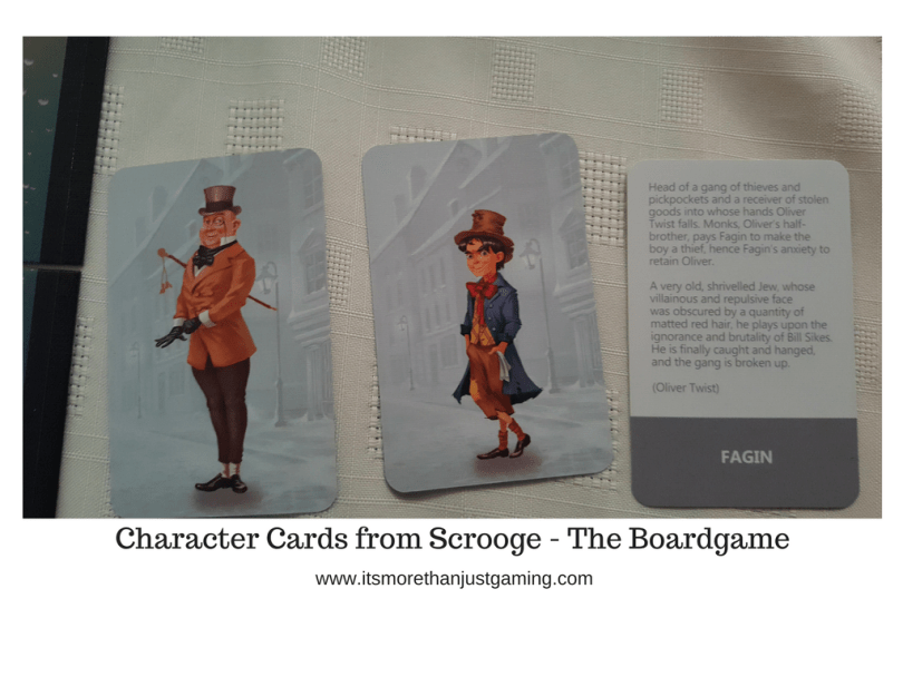 Character Bios from Scrooge - The Boardgame