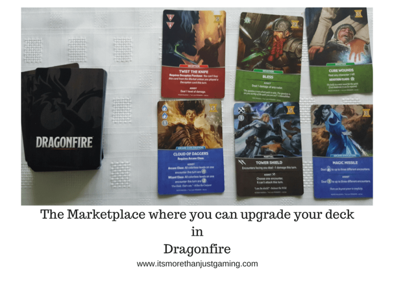 The Marketplace where you can upgrade your deck in Dragonfire
