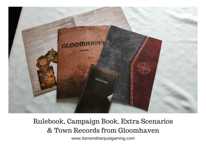 Rulebook, Campaign Book, Extra Scenarios & Town Records from Gloomhaven