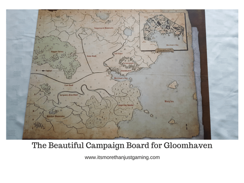 The Beautiful Campaign Board for Gloomhaven