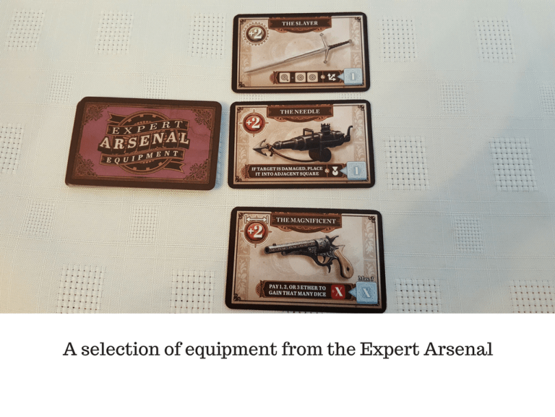 A selection of equipment from the Expert Arsenal