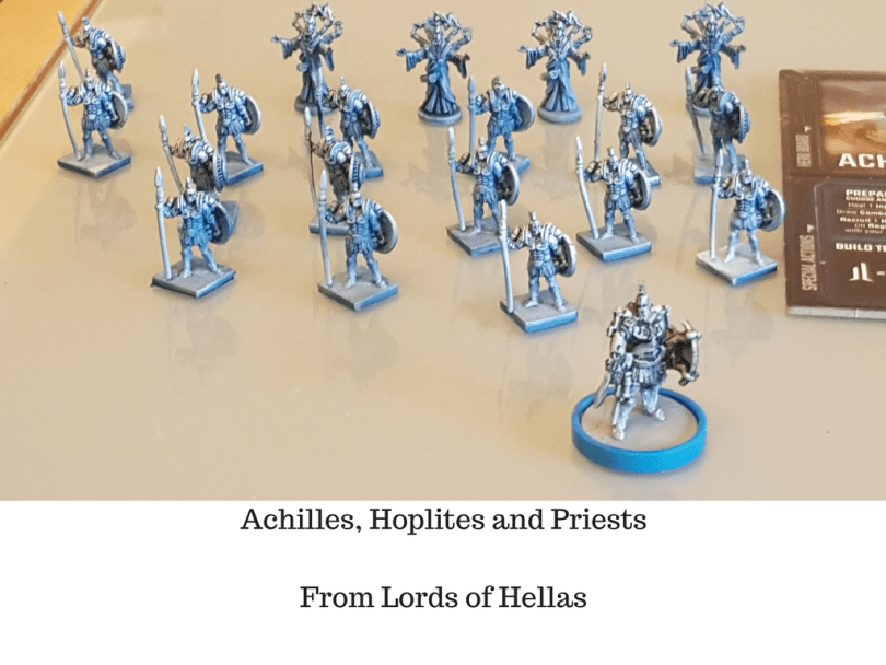 Achilles, Hoplites and Priests from Lords of Hellas