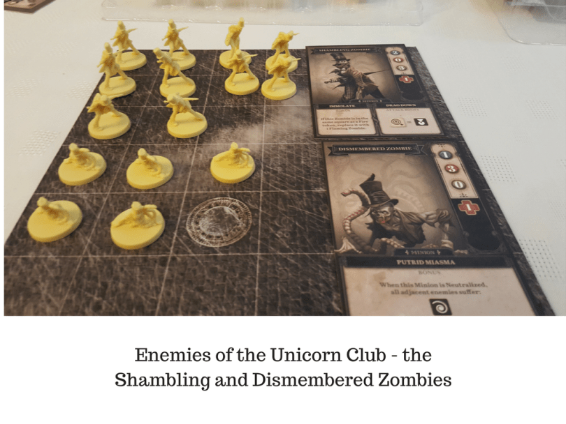 Enemies of the Unicorn Club - the Shambling and Dismembered Zombies