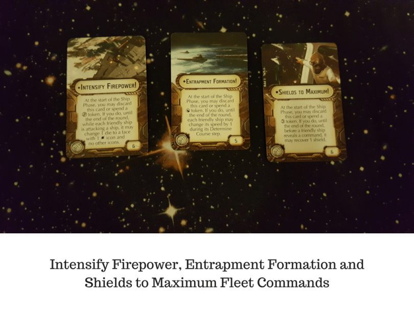 Intensify Firepower, Entrapment Formation and Shields to Maximum Fleet Commands