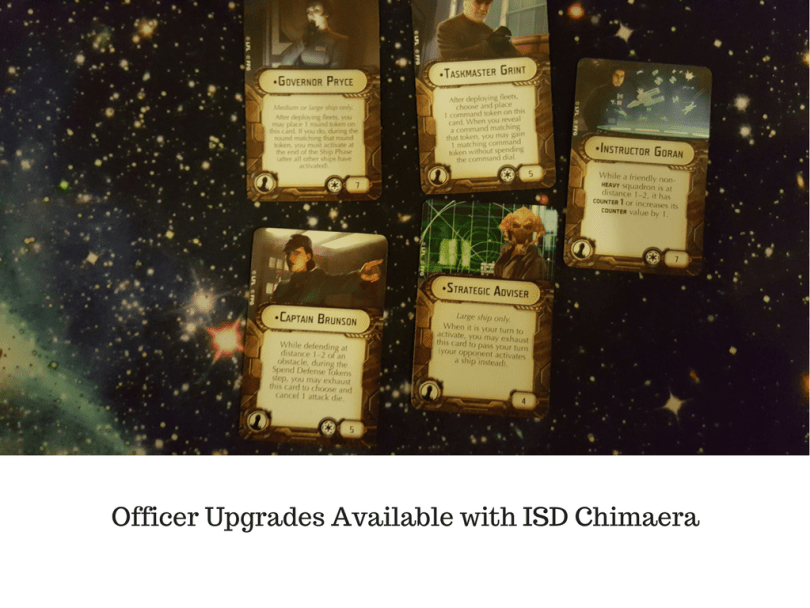 Officer Upgrades Available with ISD Chimaera
