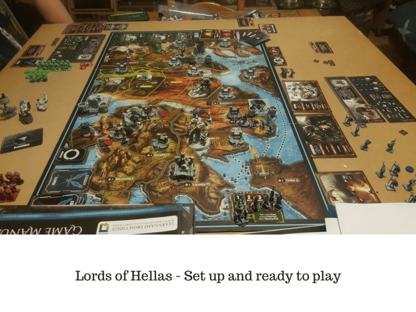 Lords of Hellas - Set up and ready to play