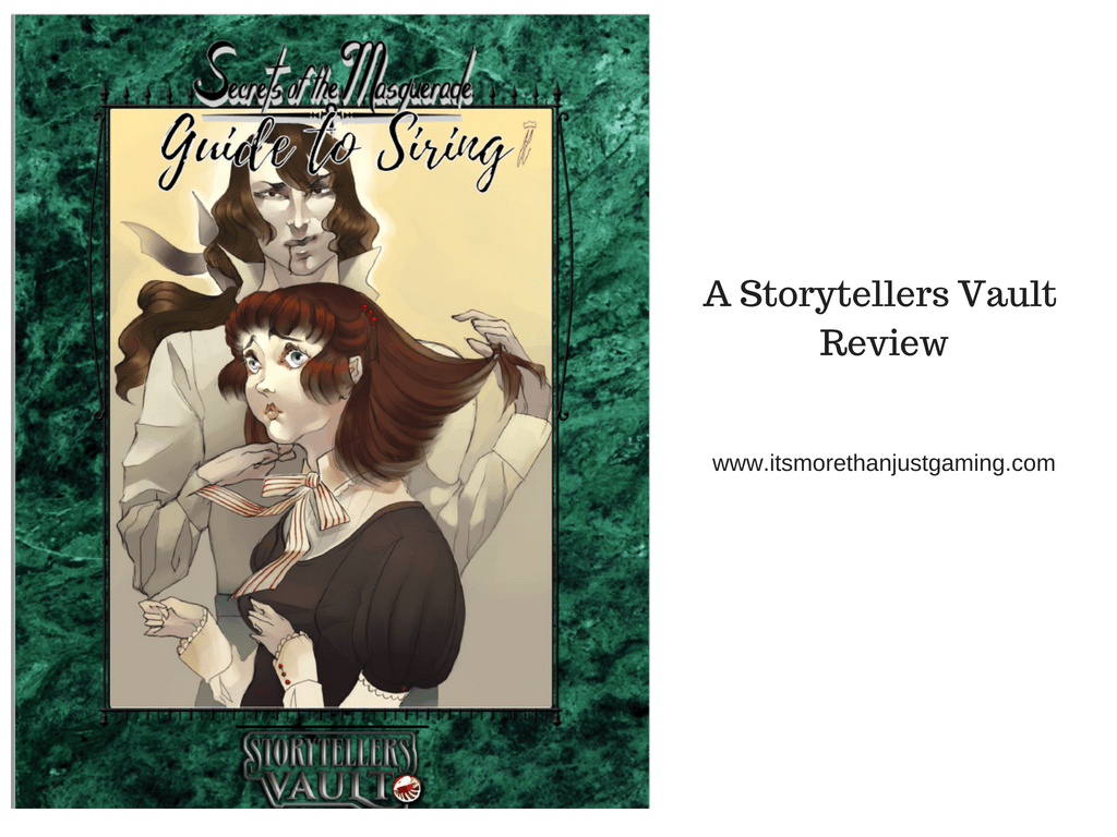 Secrets of the Masquerade: Guide to Siring - A Storytellers Vault Review