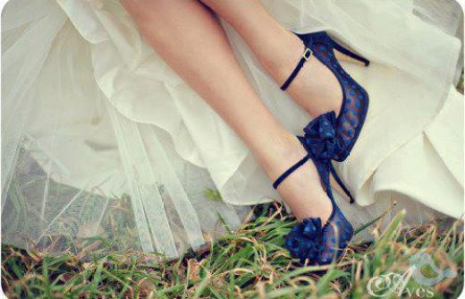 blue-color-high-heel-shoes