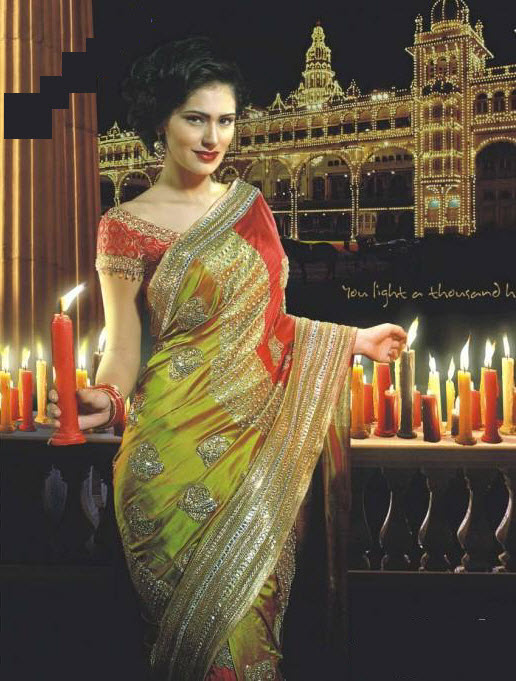 Latest-Saree-Style-wallpaper-print-idea-2012-2013