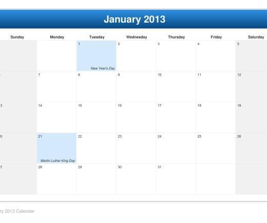 calendar-january-2013