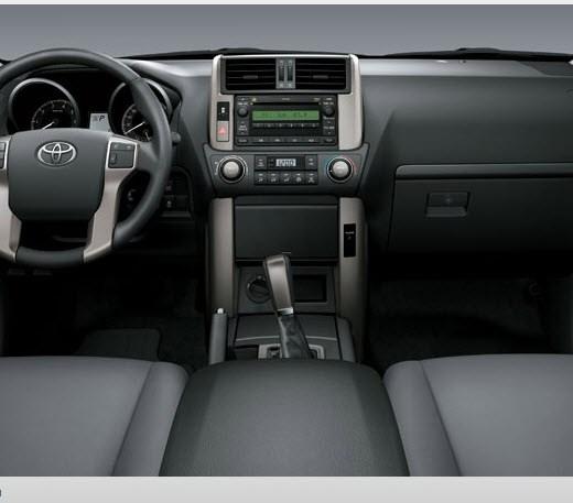 2013-Toyota-Land-Cruiser-Prado-interior-gray-color-leather-seats in USA