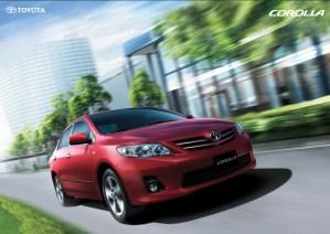 Toyota corolla 2013 new shape