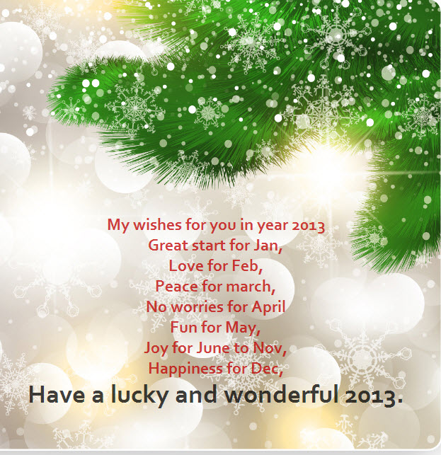 happy newyear 2013 greeting cards for facebook friends