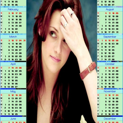 2013-Calendar beautiful girl HD widescreen wallpaper background