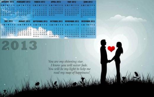 2013-calendar most romantic couple background desktop pc wallpaper