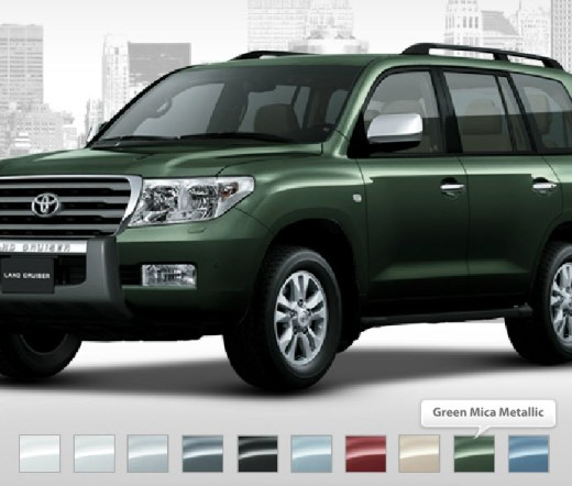 Latest-Land-Cruiser-Model-2013 green mica  metallic color