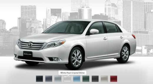 Toyota-Avalon-2013-available colors in Auto market singapore