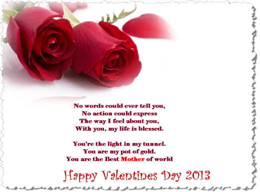 Valentine day 2013 Best wishes for Mother Ecard