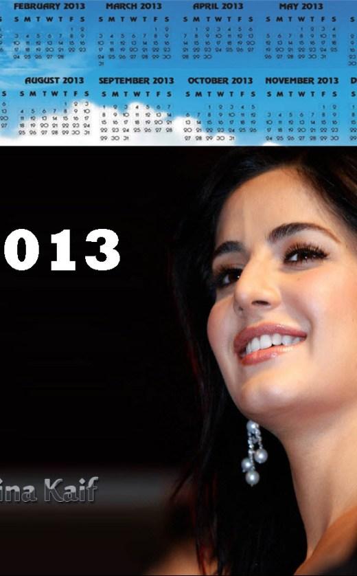 beautiful 2013-calendar bollywood katrina-kaif actress picture wallpaper