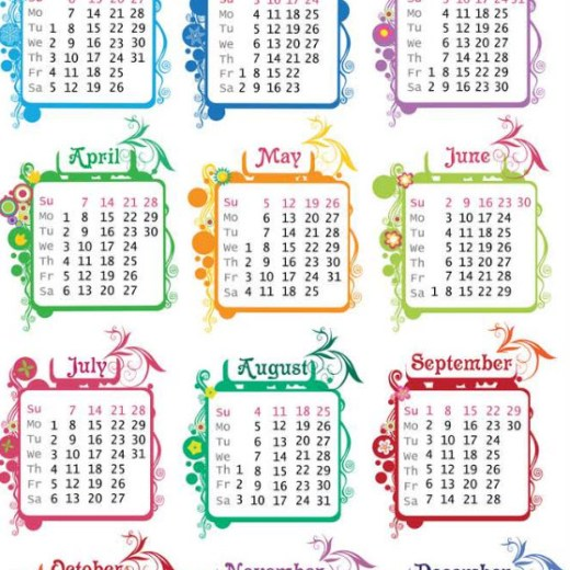 calendar 2013 best designed background and wallpaper