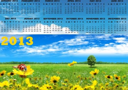 calendar 2013 with holidays-HD-widesceen wallpaper background