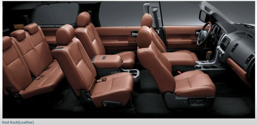 new-toyota-sequoia-2013-Interior-Leather-seats-cover-picture