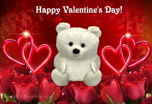 teddy-bear-2013-romantic red color pic