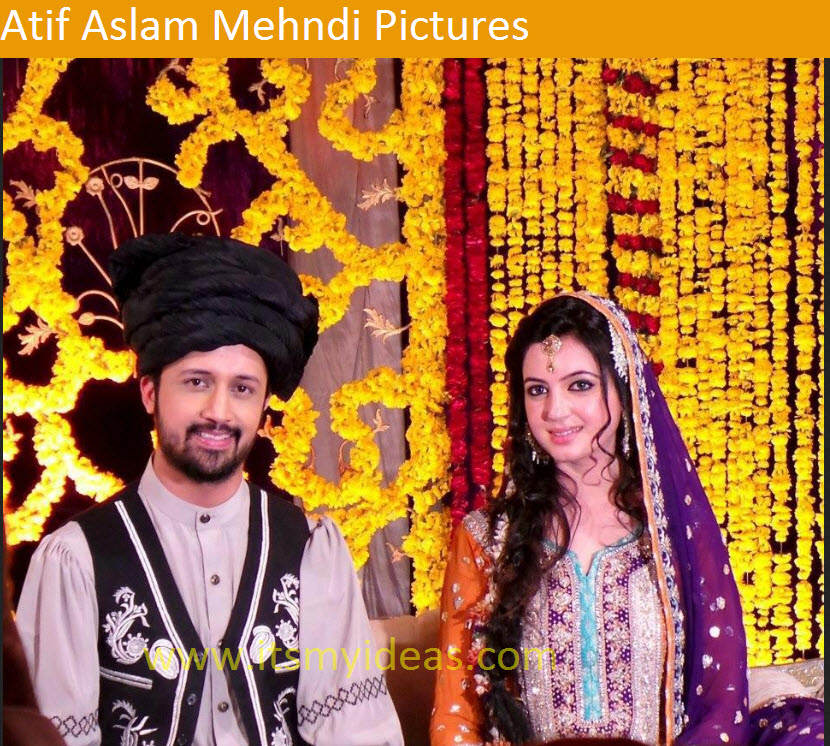 Latest,atif,aslam,mehndi,dress,and,bridal,dress,picture