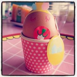 En versierden een ei.