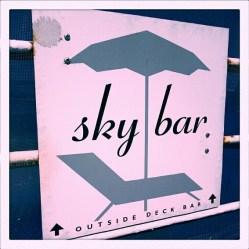 Daarna gingen we naar de Sky Bar.