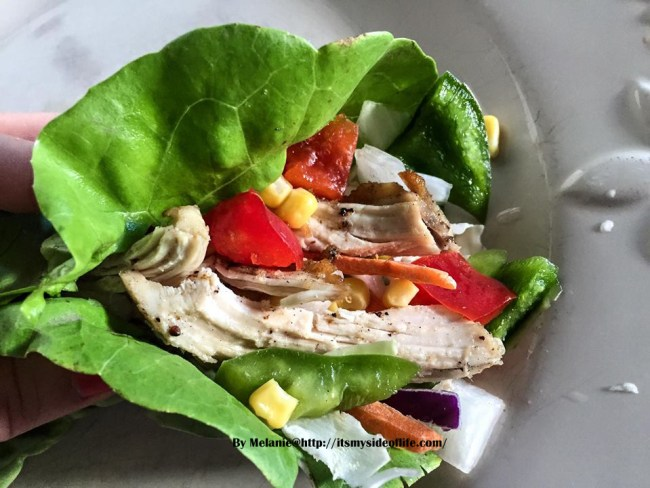 I love the fresh raw veggies! Not into raw? Go ahead and quick saute them!