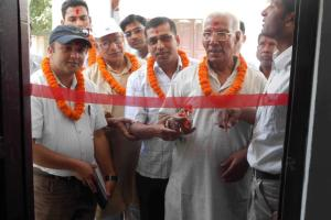 School's founder principal inaugurating the EEICT lab.