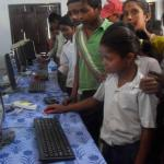 Curious students at EEICT computer lab