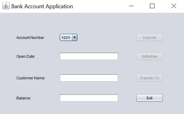 Create A Bank Account Application In Java Nat Rivera