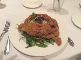 Corn Meal Crusted Soft Shell Crab over a Jicama Root Salad