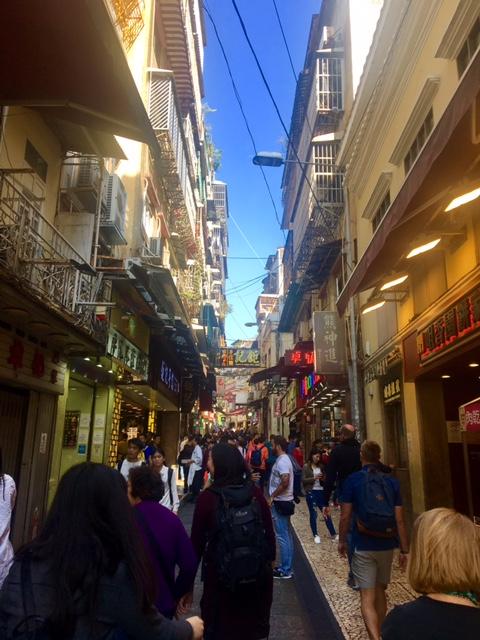 Portugese Street Vendors Macau China
