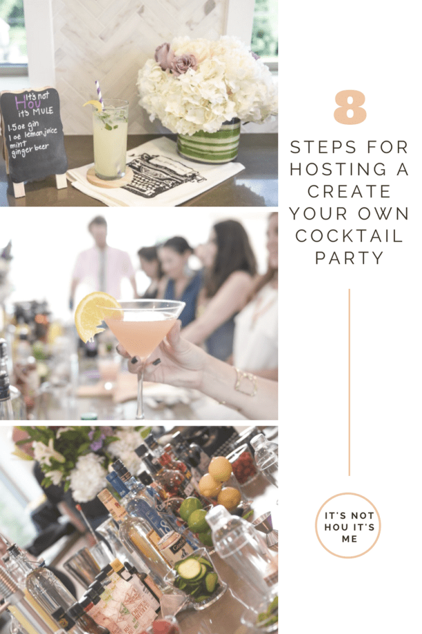 Tips for a Create-Your-Own-Cocktail Party // It's Not Hou It's Me