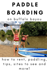 where to paddle board in houston