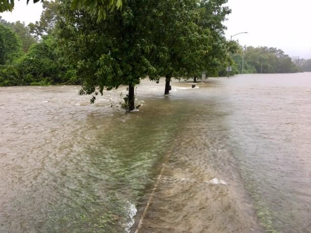 harvey flood photos buffalo bayou houston