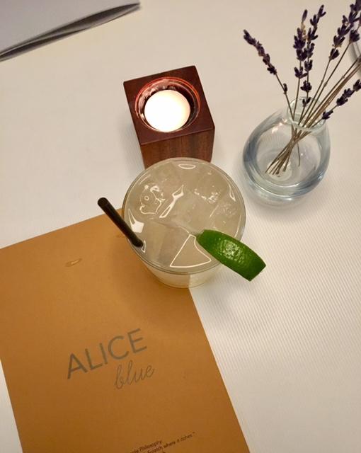 Alice Blue Houston drink menu