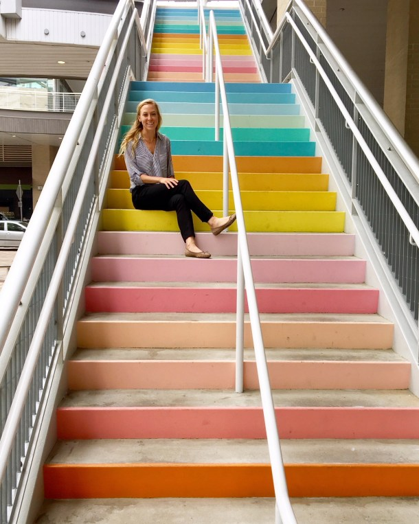 sugar and cloth color wall stairs houston