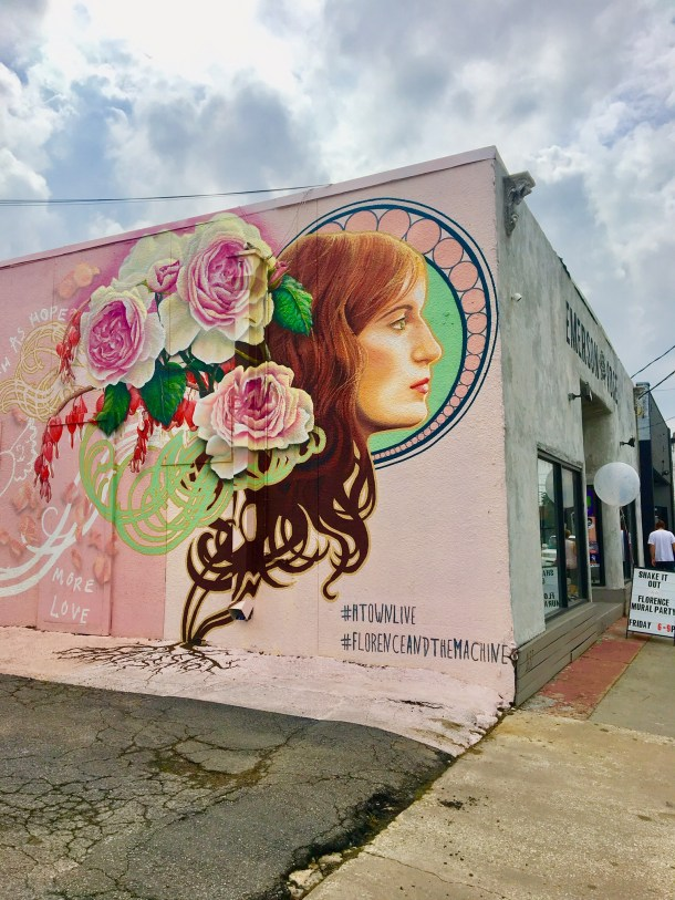 florence and the machine emerson rose houston mural