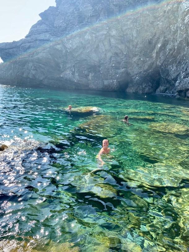 where to swim corniglia cinque terre