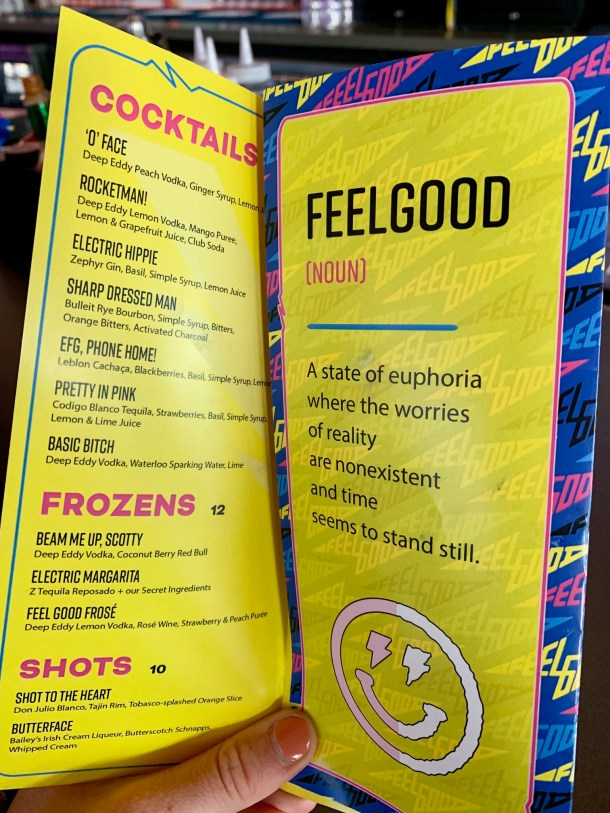 electric feelgood menu